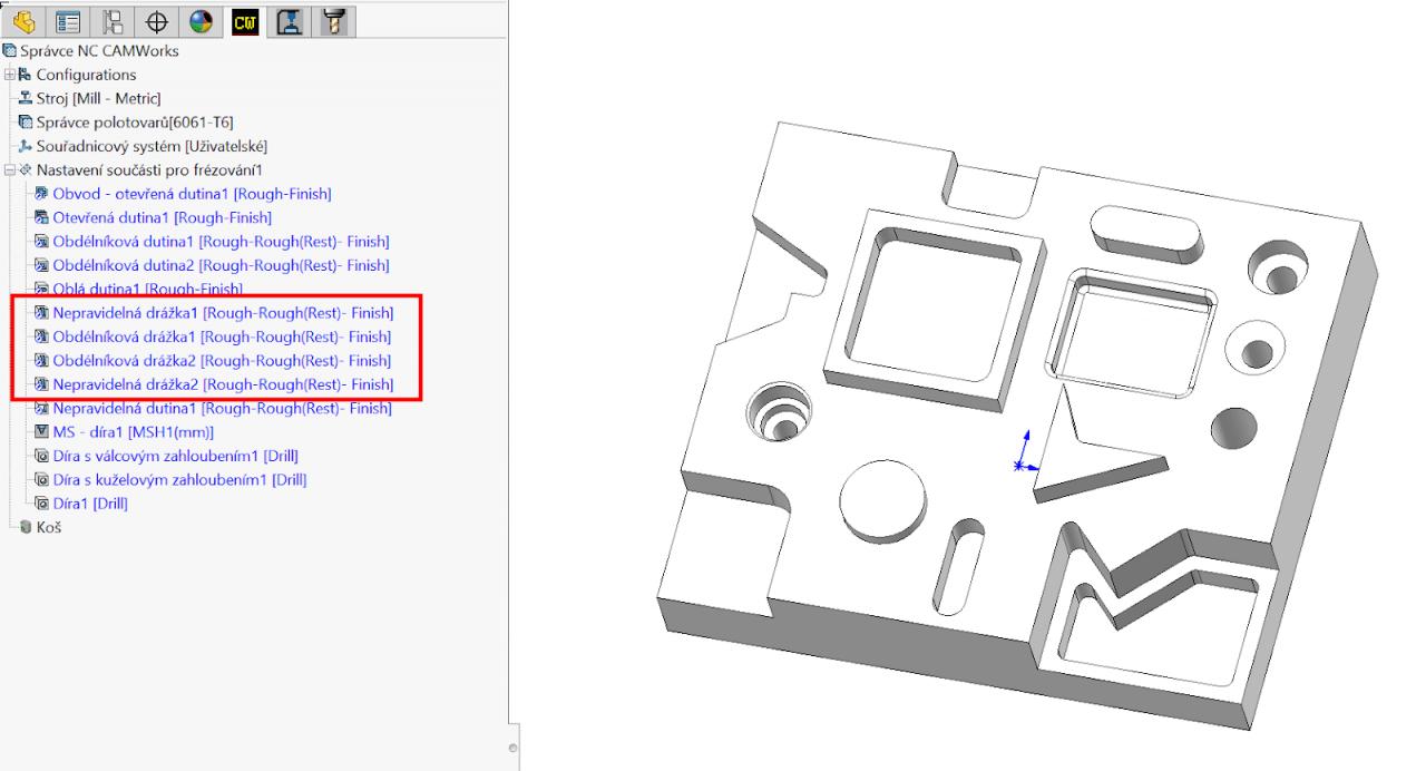 Technický tip CAMWorks – Funkce Mapovat frézovací útvary