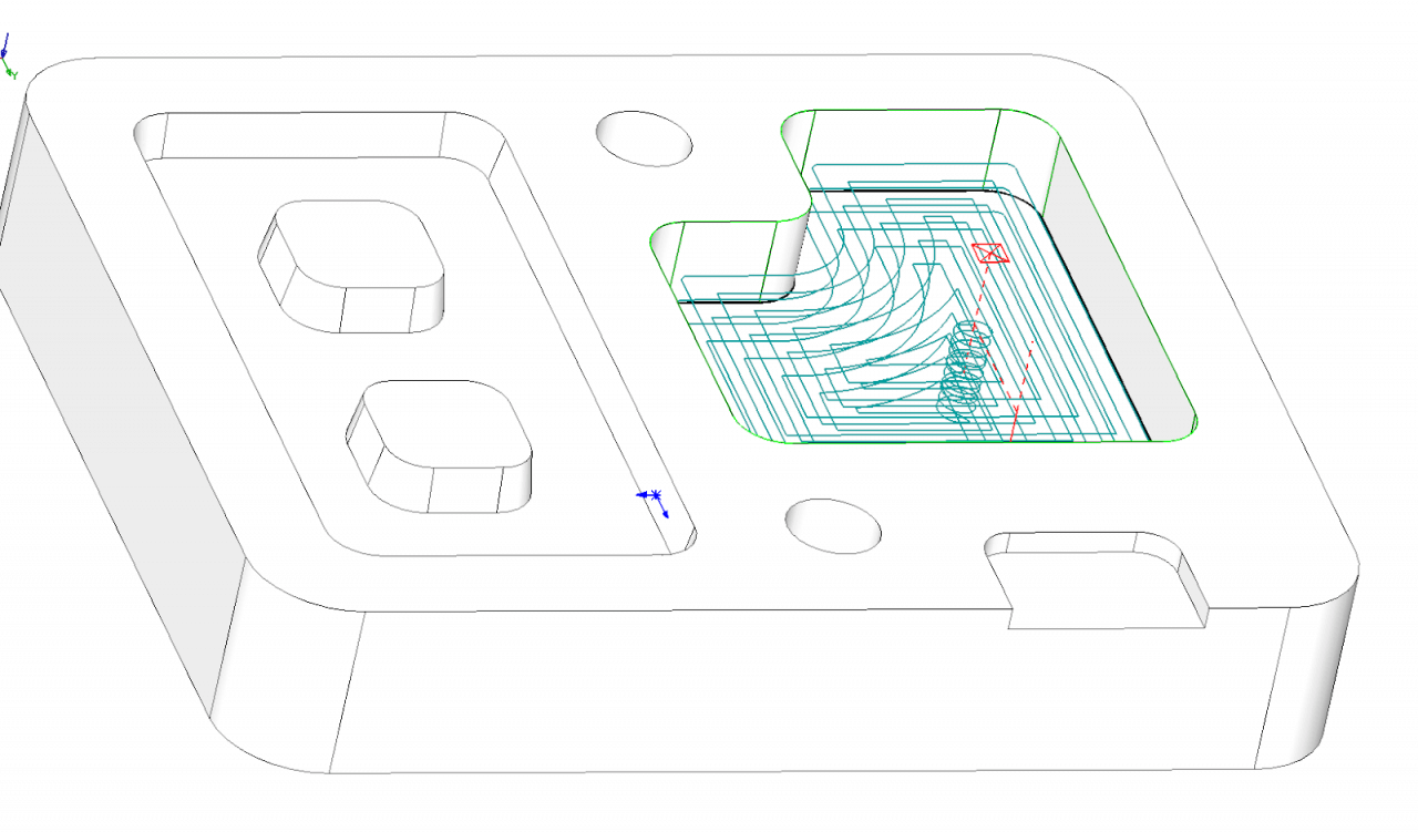 Technický tip CAMWorks – Dokončení dna 2.5osého útvaru