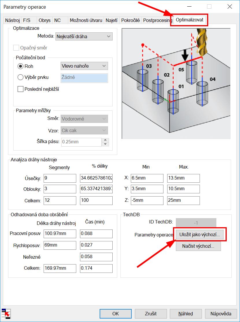 Technický tip CAMWorks – Uložení parametrů operace