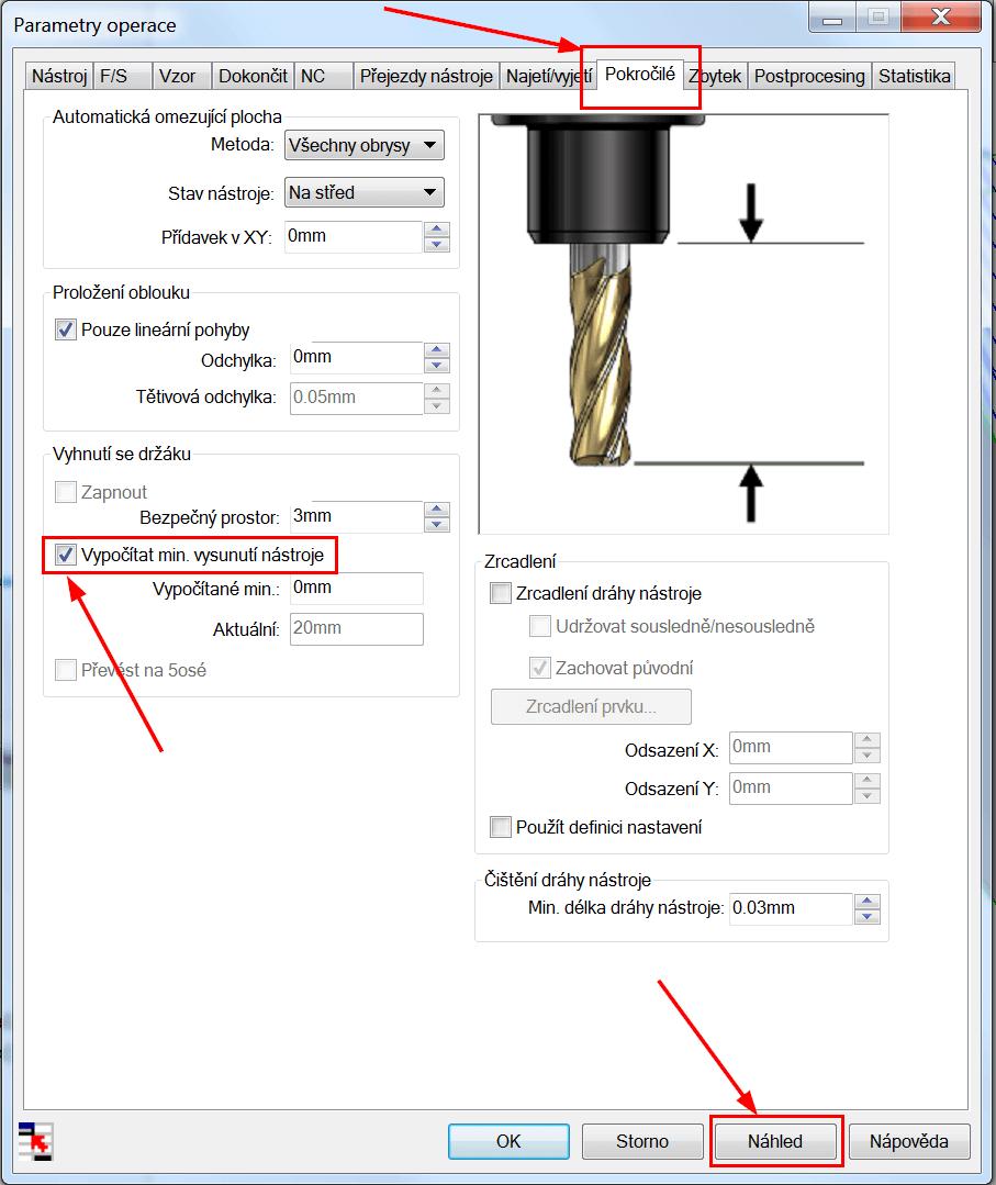 Technický tip CAMWorks – Kontrola držáku nástroje ve 3osých operacích