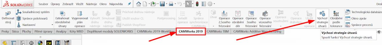 Technický tip CAMWorks – Výchozí strategie obrábění